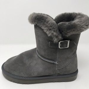 New$99 style & co tiny fur bootie 8 gray
